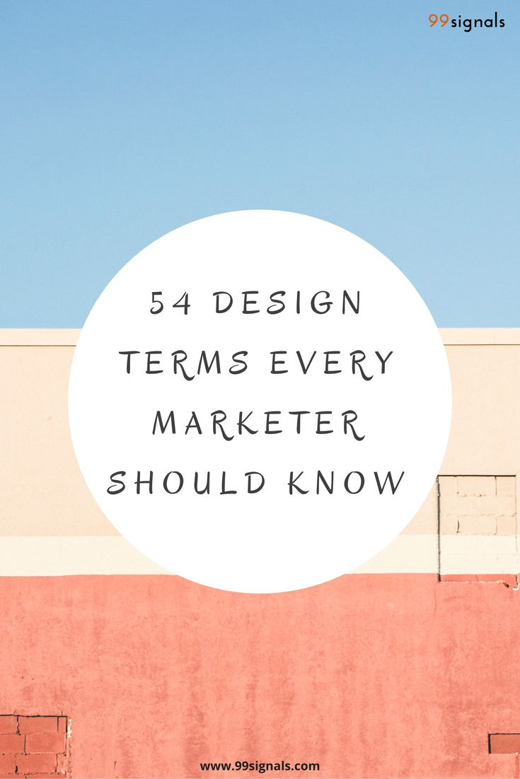 54 Design Terms Every Marketer Should Know #Design #Marketing #GraphicDesign