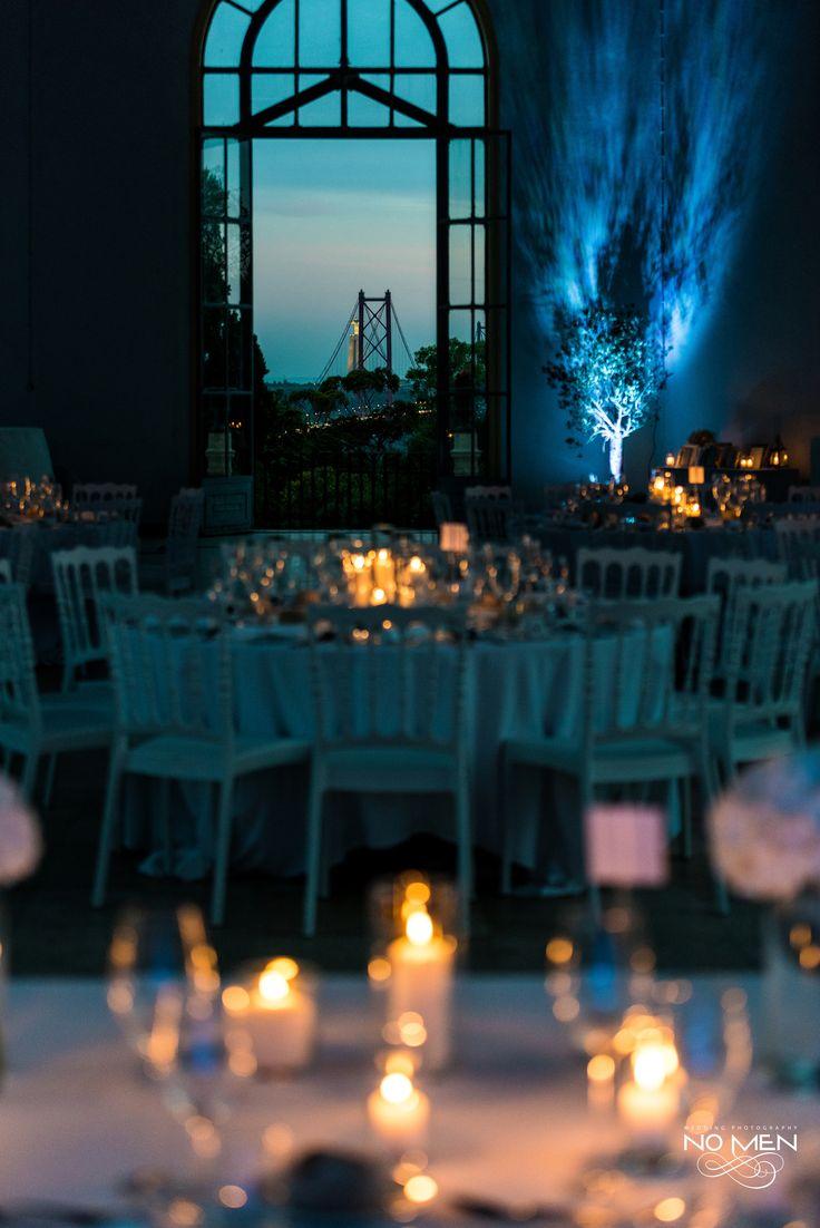 Wedding Tables | #wedding #weddingdecoration #weddingideas #weddinginspiration #blueandwhite #lisbon #view