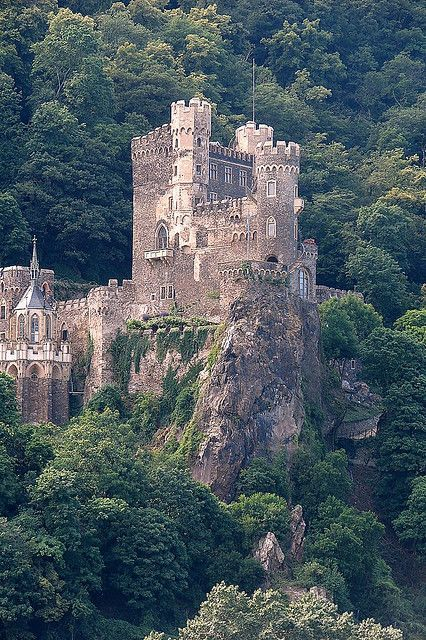Rheinstein Castle is a castle near the town of Trechtingshausen in Rhineland - Palatinate, Germany