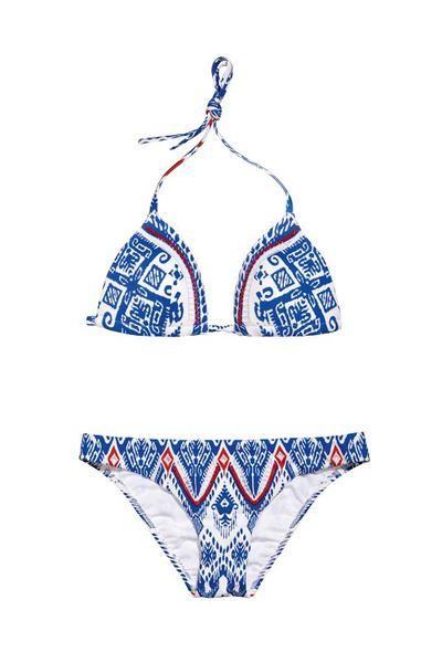 Bikini e moda mare bianco e blu estate 2017: il look per le vacanze in Grecia - Marieclaire