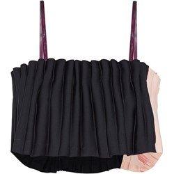 Two-tone pleated cady top