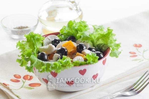 Салат из тыквы с сыром