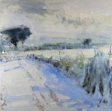 Hannah Woodman, Snow Shadows, Cornish Field on ArtStack #hannah-woodman #art