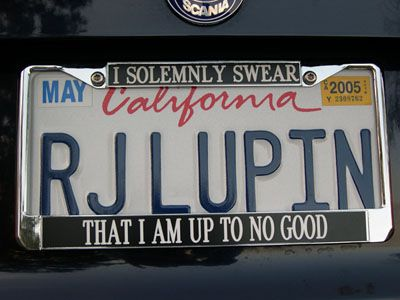 Ron: Who do you think that is? Hermione: Professor R. J. Lupin. Ron: Do you know everything? Ron: How is it she knows everything? Hermione: It's on his license plate, Ronald. Ron: Oh.