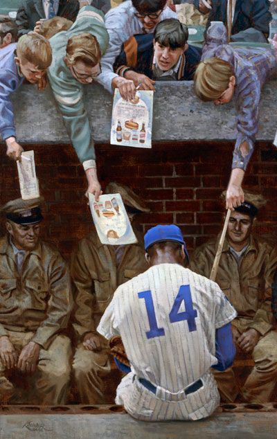 Graig Kreindler - Baseball Paintings. Ernie Banks 'Far From Albuquerque
