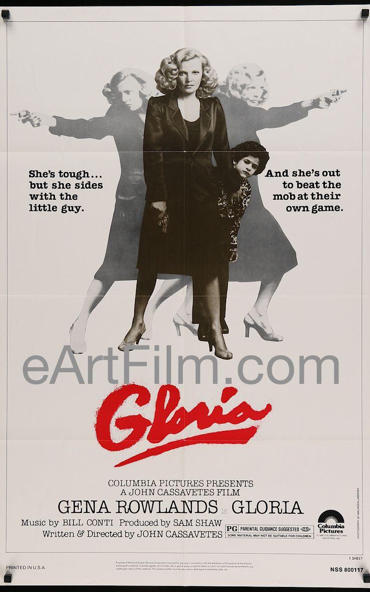 Gloria-John Cassavetes-Gena Rowlands-Buck Henry-Tony Knesich-27x41-1980