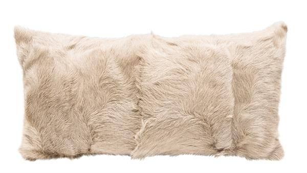 Email interiorworx@xtra.co.nz to purchase. New Zealand residents only Caramel Goat Fur Cushion 25cmWx50cmL