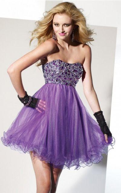 Sleeveless Sweetheart Zipper Tulle Short Formal Dresses zwh215