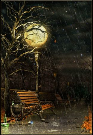 Rain Falling - Gifs  ~~  Wish it was safe to sit  here and enjoy rain at night.  So nice and soothing!