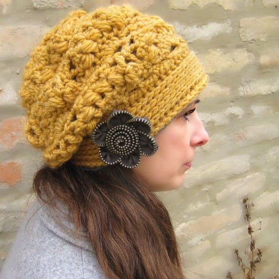 Ofira Beret Crochet Pattern by CrocheTrend on Etsy