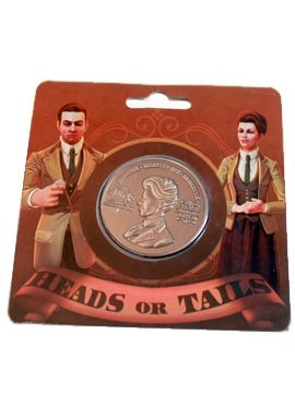"BioShock Infinite Lutece Coin via the Irrational Games Store - ""Heads, or Tails?"""