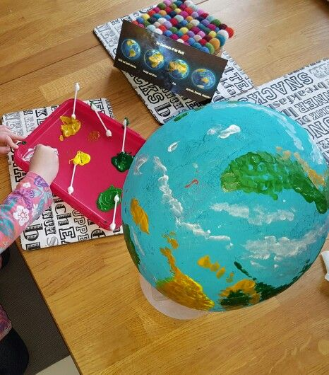 Paper Mache Planet Earth