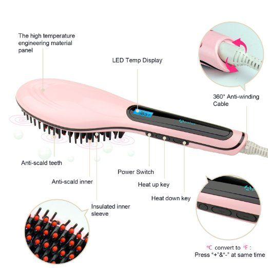 Apalus brush hair straightener Review