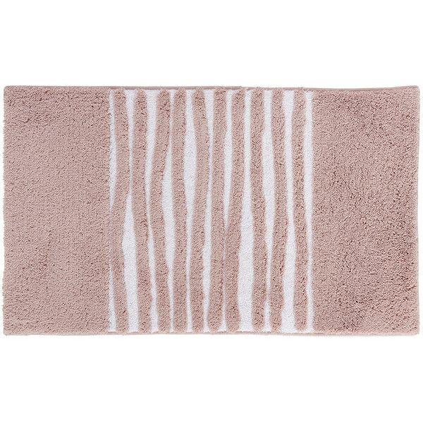 Aquanova Morgan Bath Mat   Dusty Pink   60x100cm ($65) ❤ Liked On Polyvore