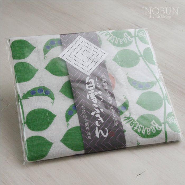 白雪ふきん友禅染ジャックと豆の木30×40cmグリーン
