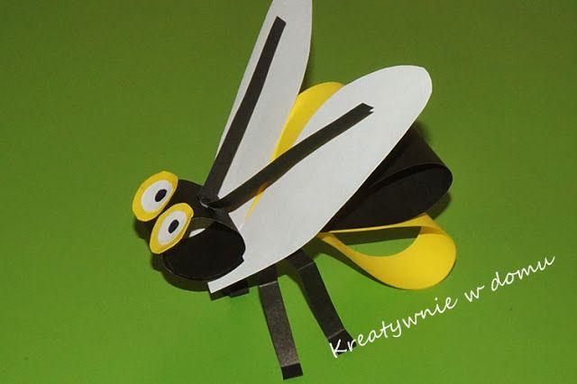 Pszczoła Z Papieru Rękodzieło W Przedszkolu Dziecięce