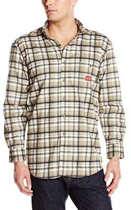 Dickies Men's Flame-Resistant Long Sleeve Plaid Shirt - Shop for women's Shirt - Ash Blue/White Plaid Shirt