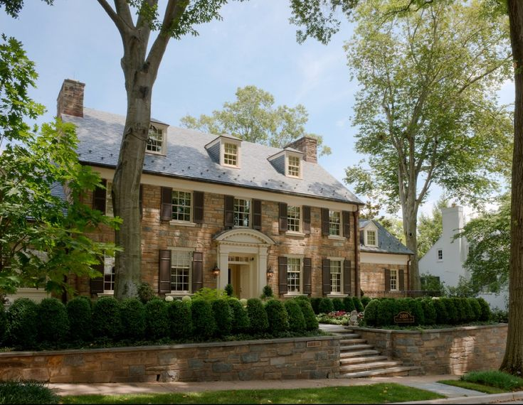 Stone Georgian Home   Traditional   Exterior   Dc Metro   Barnes Vanze  Architects, Inc