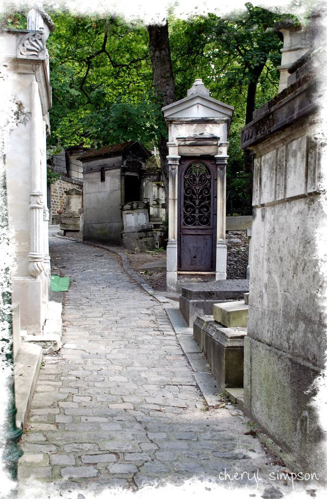 Pathway from Pere La Chaise. Yes it's strange to want to visit a city bc of a cemetery but that's just me....