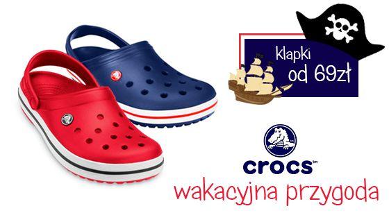Rozpocznij wakacyjną przygodę z Crocs'em! Najwygodniejsze buty na dalekie podróże i zabawy na plaży Sprawdź http://bit.ly/cCROCS