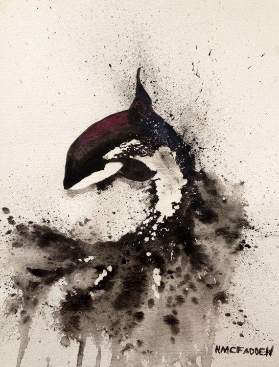 Orca Killer Whale by HannahMcFaddenArt