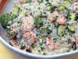 Shrimp and Zucchini Risotto: Recipes: Cooking Channel: Recipe Courtesy of Gabriele Corcos and Debi Mazar.