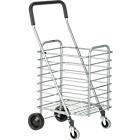 "Folding Shopping Cart. 15.5""Wx19.75""Dx35.75""H (open); 15.5""Wx8""Dx40.75""H (folded); 13.5""Wx16""Dx16""H (basket)"