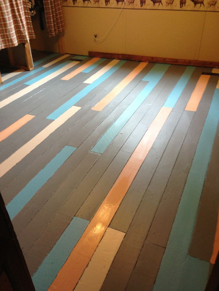 Painted Wood Floors This Is A Cute Idea Different
