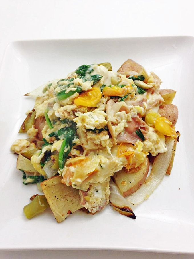 Prosciutto Scramble with Potato Hash - I Eat Therefore I Cook (brunch ...