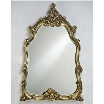 Wall Mirrors - Decorative Mirror Timeless Traditional Wall Mirror Solid Wood with Intricate Design by Afina | KitchenSource.com
