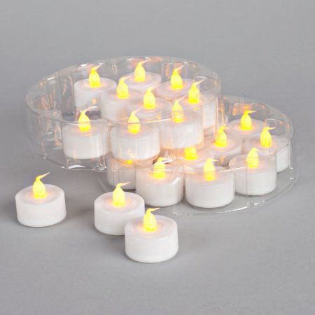 48 Piece LED Tealight Set with Super Bright and Soft Glow Flickering Light, Multicolor