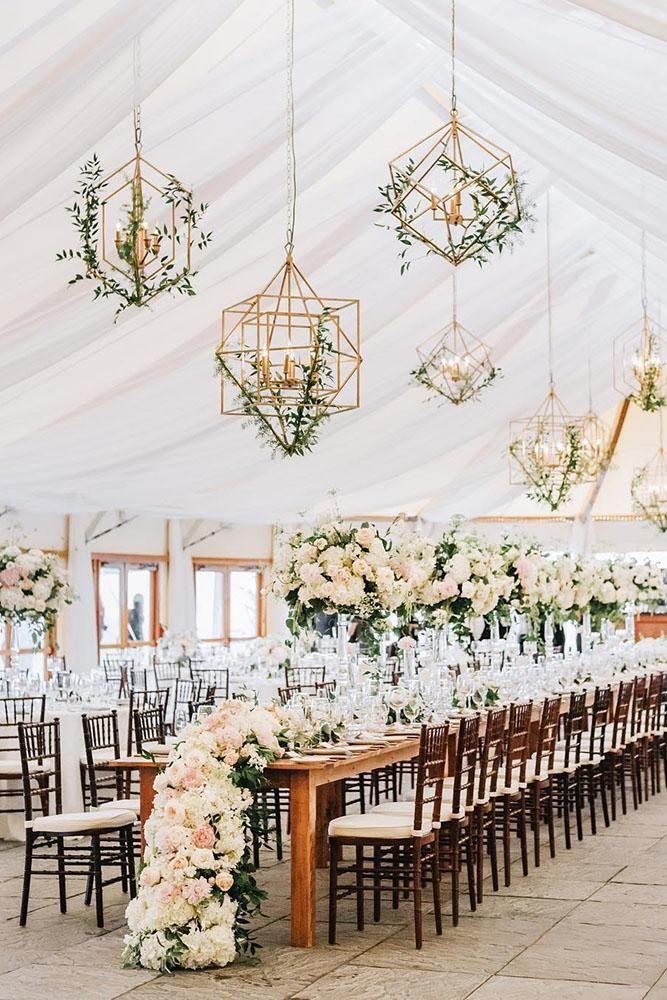 30 Summer Wedding Trends And Ideas Wedding Forward Floral Chandelier Wedding Wedding Reception Design Wedding Lights