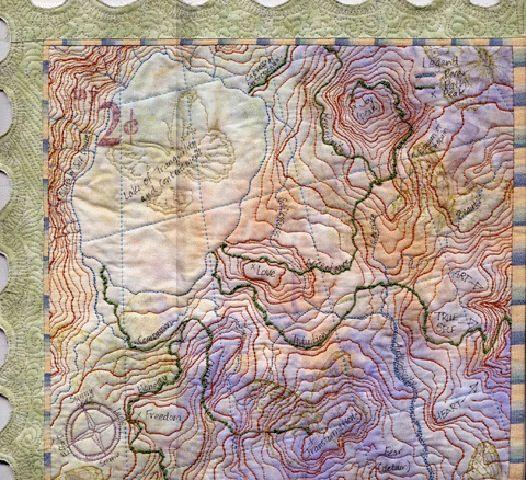 Map of the Soul map art quilt by Maureen O'Doogan