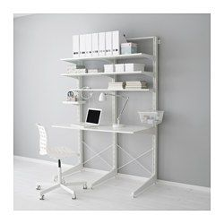 ALGOT Post/foot/shelves, white - IKEA
