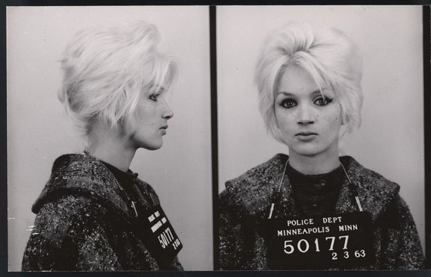 handcuffs and beehives   a small collection of vintage mugshots of ladies