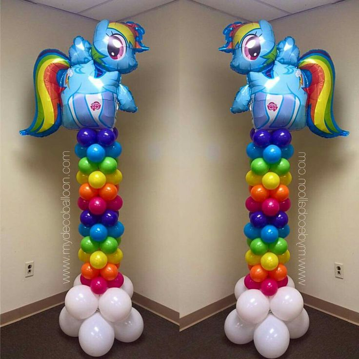 My little pony rainbow columns