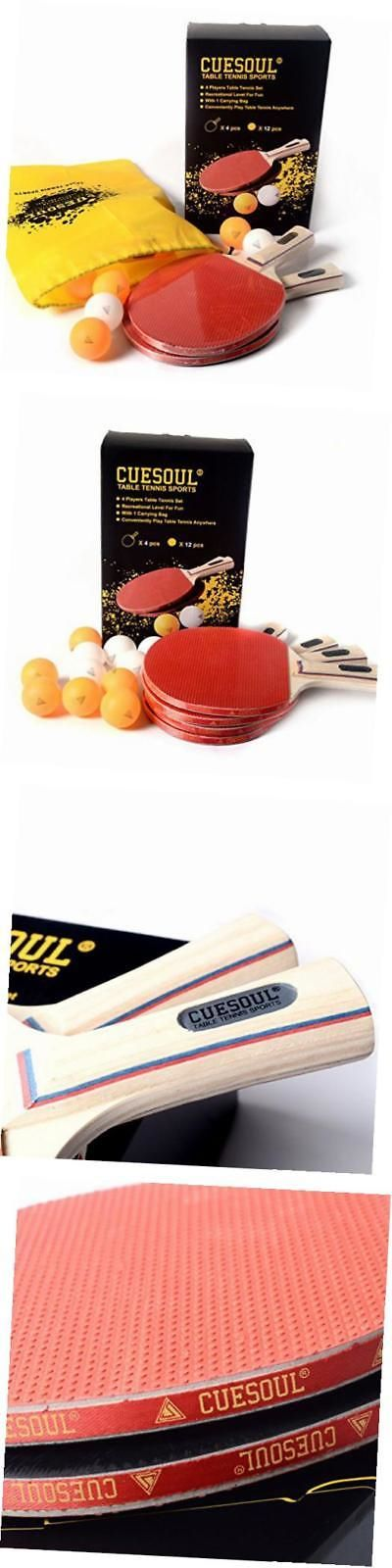 Sets 158955: Table Tennis Set -4 Paddles Rackets And 12 Table Tennis Balls-4 Players Table -> BUY IT NOW ONLY: $45.8 on eBay!