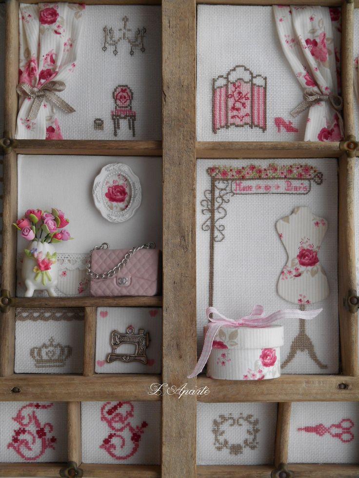 Mon casier, miniatures en cartonnage, pâte fimo, porcelaine, sac Chanel