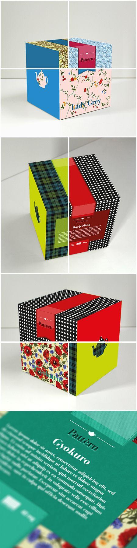 Pattèrn - Tea Packaging by Oriana Gaeta, via Behance