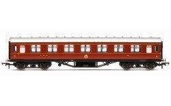 Hornby R4804 LMS Corridor 3rd Class, Crimson Lake - OO Scale: Rolling Stock Passenger, LMS Coaches.  Your Price: £42.50 MRP: £49.99 Save £7.49 (15%)