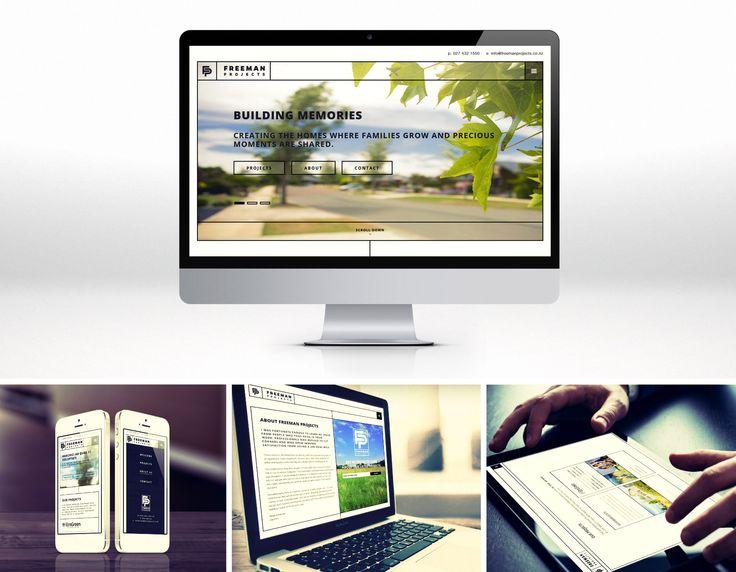 Freeman Projects website design and development