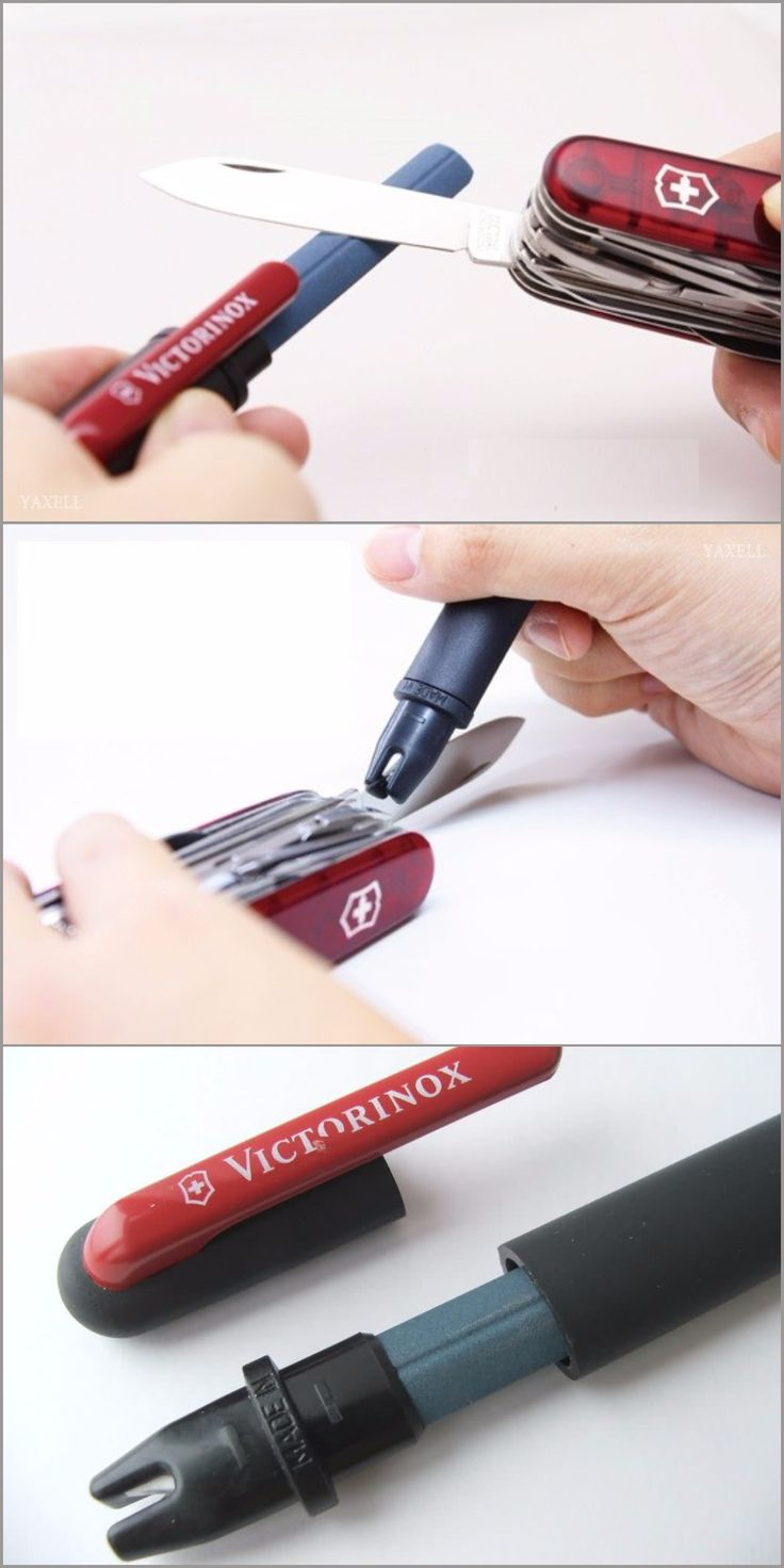Victorinox Pocket EDC Knife Sharpener (Clam Pack), Black