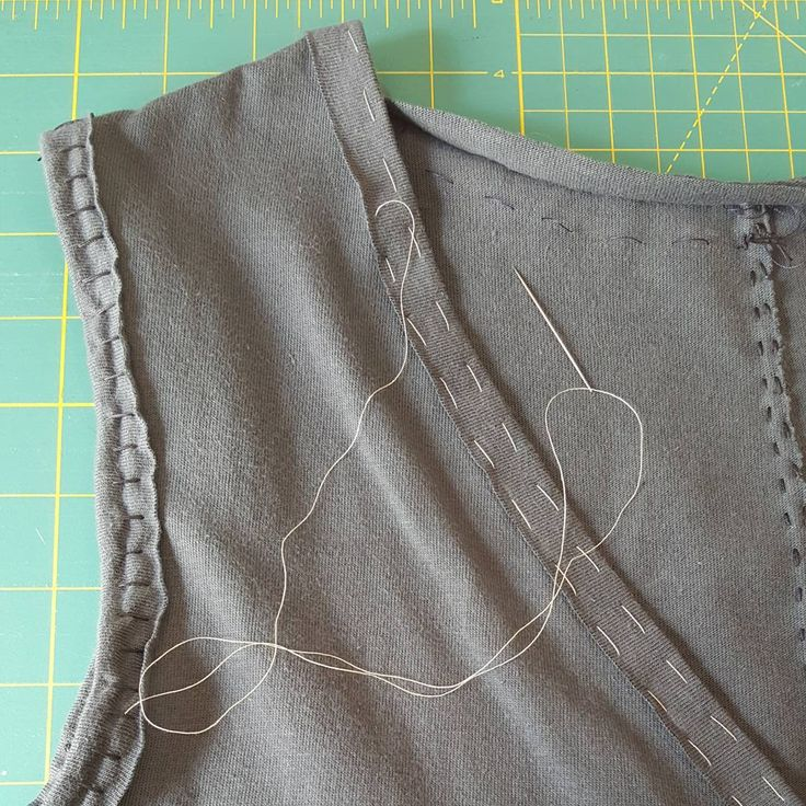 """29 Likes, 8 Comments - Vicki Mothes (@vicki.knitorious) on Instagram: """"I'll never sew another neck edge without first basting! I wish I was a little further along, but…"""""""