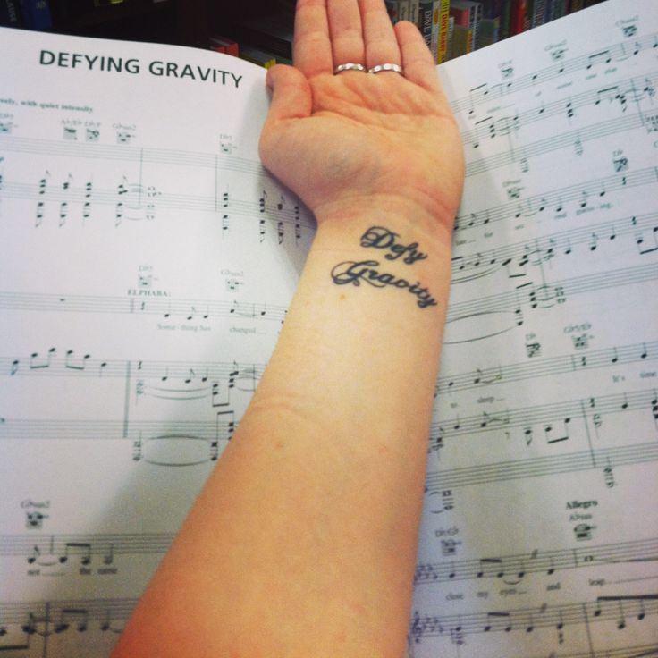 "My tattoo from the Broadway musical ""Wicked"" In front of the ..."