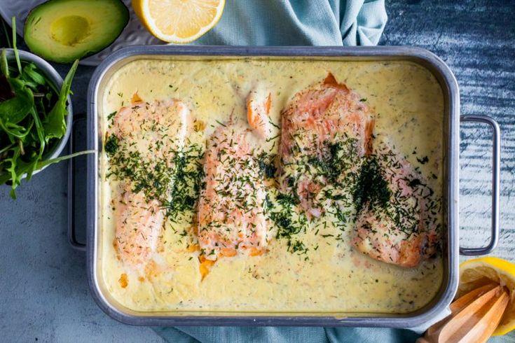 lax i citronsås, fisk i ugn