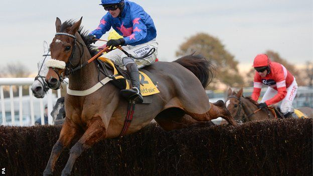Cue Card winning the 2013 Betfair Chase
