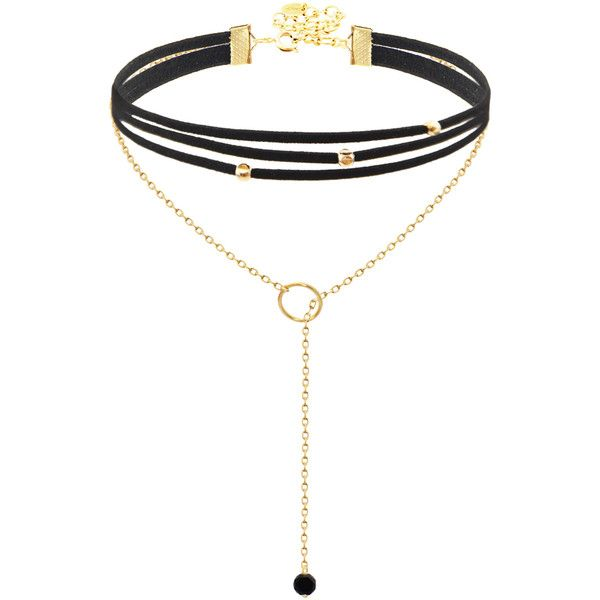 Choker Lariat ($44) ❤ liked on Polyvore featuring jewelry, necklaces, choker necklace, choker jewelry, lariat necklaces and lariat jewelry