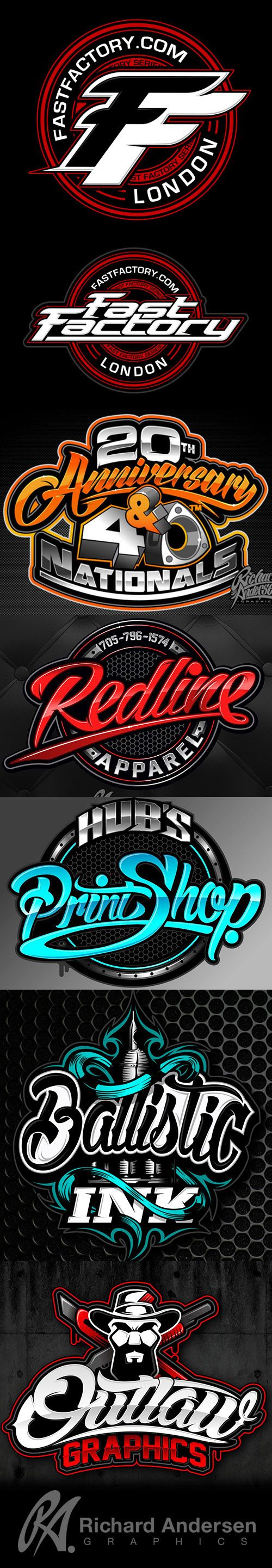 RA Typography Logo design