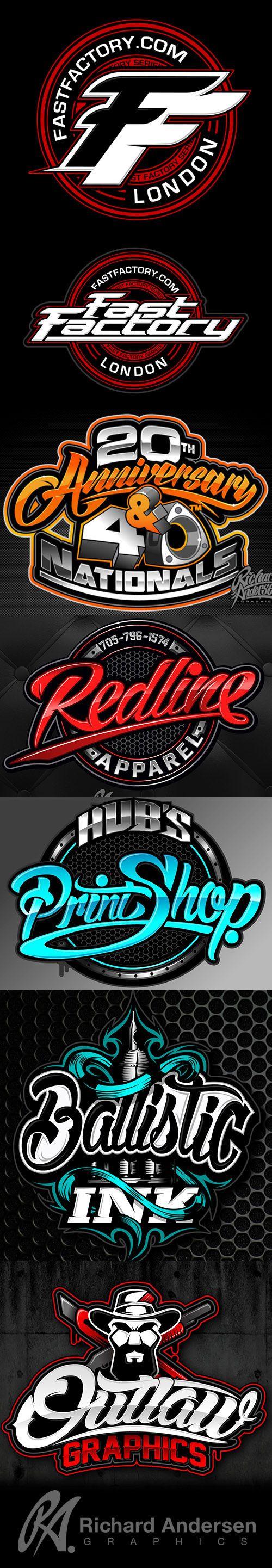 RA Typography Logo design