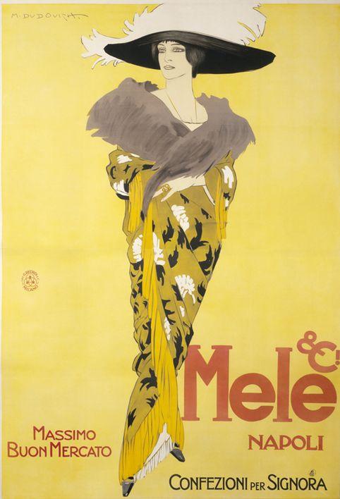 By Marcello Dudovich, 1913, Mele & Ci Napoli, Massimo Buon Mercato. (I)